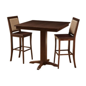 contemporary pub table, Dining room, dining room furniture, solid wood, solid oak, solid maple, custom, custom furniture, dining table, dining chair, made in Canada, Canadian made, bar table, pub table