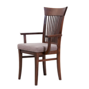 essex arm chair, Dining room, dining room furniture, solid wood, solid oak, solid maple, custom, custom furniture, dining chair, made in Canada, Canadian made