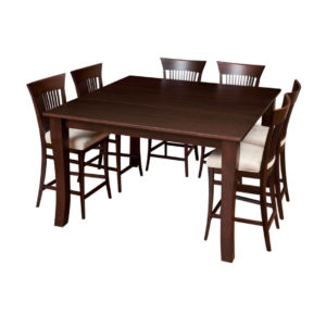 essex gathering table, Dining room, dining room furniture, solid wood, solid oak, solid maple, custom, custom furniture, dining table, dining chair, made in Canada, Canadian made, bar table, pub table
