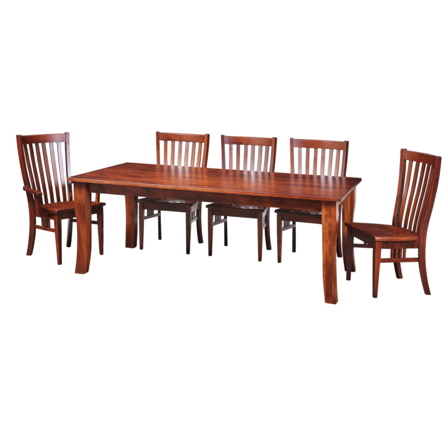 essex harvest table, Dining room, dining room furniture, solid wood, solid oak, solid maple, custom, custom furniture, dining table, dining chair, made in Canada, Canadian made