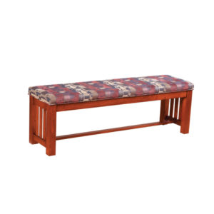 Mission bench, Dining room, dining room furniture, solid wood, solid oak, solid maple, custom, custom furniture, dining bench, made in Canada, Canadian made