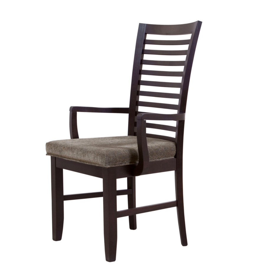 newport arm chair, woodworks, Dining room, dining room furniture, solid wood, solid oak, solid maple, custom, custom furniture, dining chair, made in Canada, Canadian made