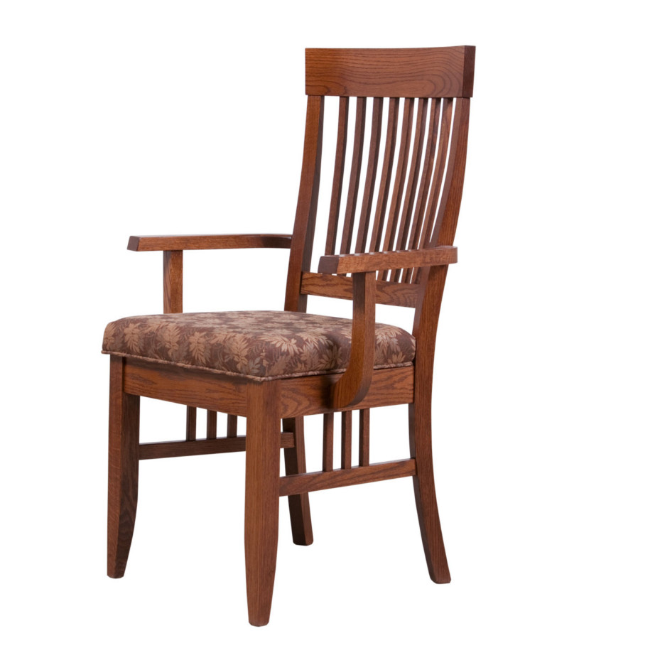 shaker arm chair, Dining room, dining room furniture, solid wood, solid oak, solid maple, custom, custom furniture, dining chair, made in Canada, Canadian made