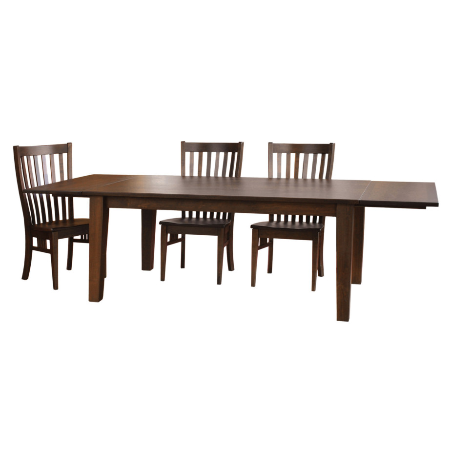 shaker harvest table, Dining room, dining room furniture, solid wood, solid oak, solid maple, custom, custom furniture, dining table, dining chair, made in Canada, Canadian made