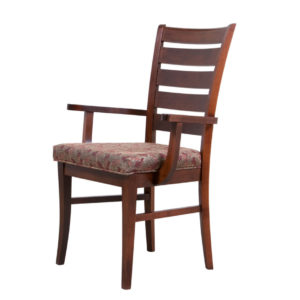sienna arm chair, Dining room, dining room furniture, solid wood, solid oak, solid maple, custom, custom furniture, dining chair, made in Canada, Canadian made