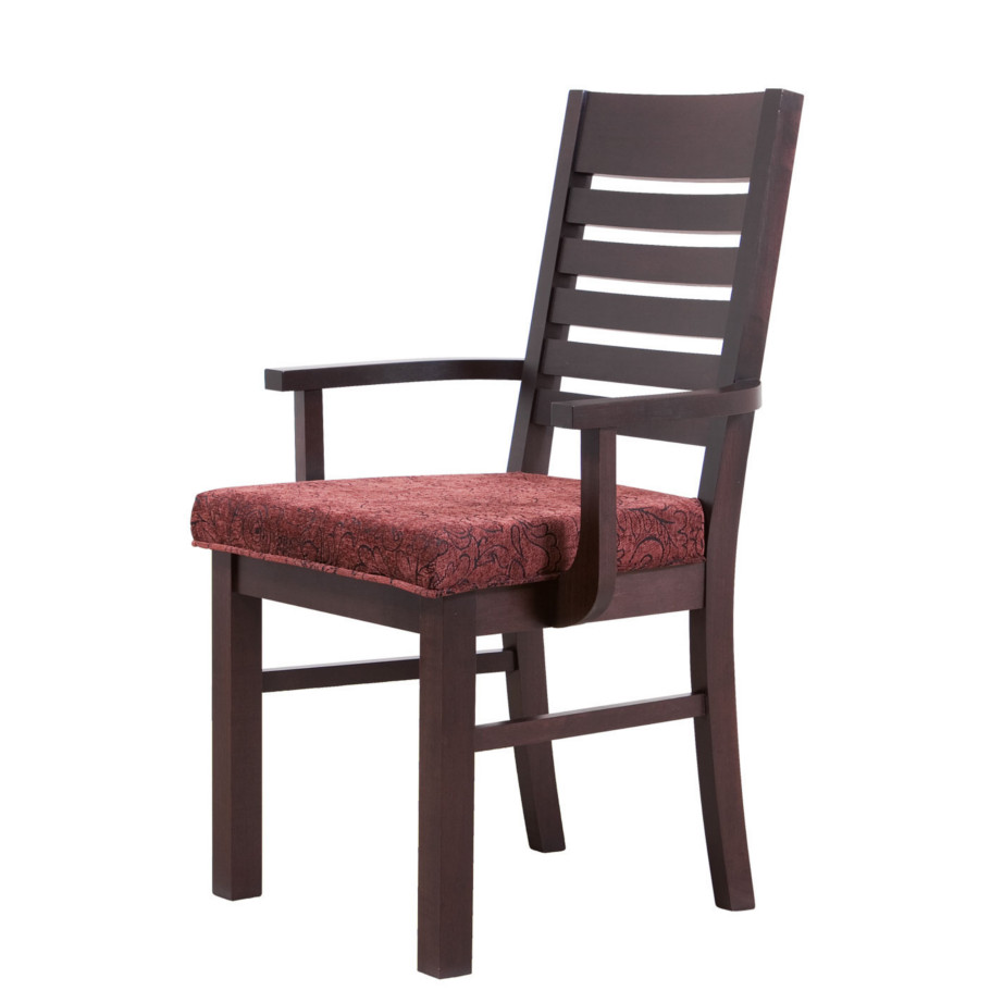 torino arm chair, Dining room, dining room furniture, solid wood, solid oak, solid maple, custom, custom furniture, dining chair, made in Canada, Canadian made