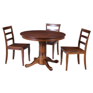traditional round table, Dining room, dining room furniture, solid wood, solid oak, solid maple, custom, custom furniture, dining table, dining chair, made in Canada, Canadian made