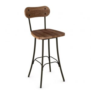 bean stool, bar height stool, bar height, counter height, counter height stool, custom furniture, made in canada, canadian made, solid wood, kitchen, dining room, kitchen furniture, dining room furniture, metal, custom, customizable, swivel stool