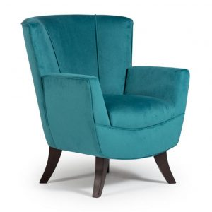 best home furnishings, accent chair, sitting chair, upholstered, custom chair, wood frame, bethany club chair, condo size, small scale chair