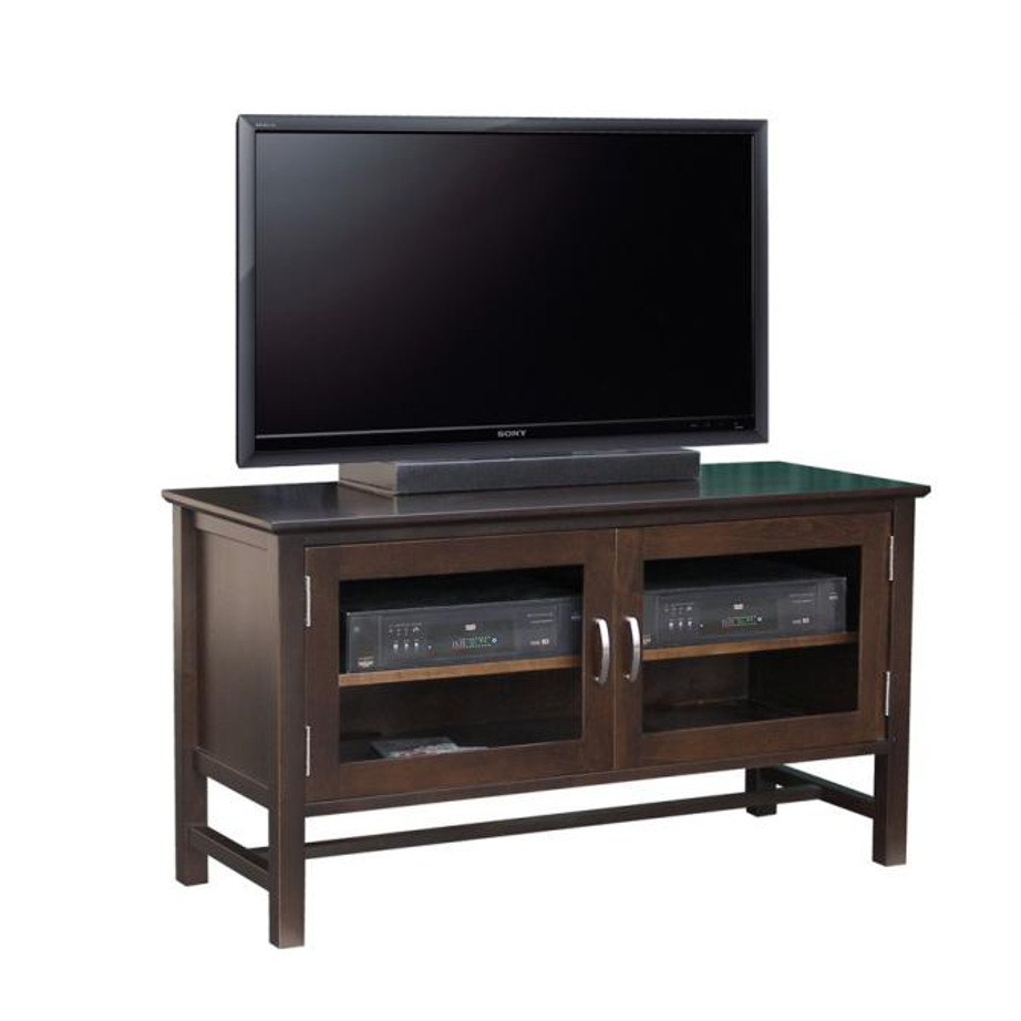 brooklyn 48 tv console, living room, living room furniture, console, tv console, tv, hdtv, storage, storage ideas, solid wood, made in Canada, Canadian made, maple, oak, cherry, solid maple, heritage maple, solid oak, solid cherry, rustic, rustic design, drawer, drawers, shelves, storage solutions, custom, custom furniture, entertainment