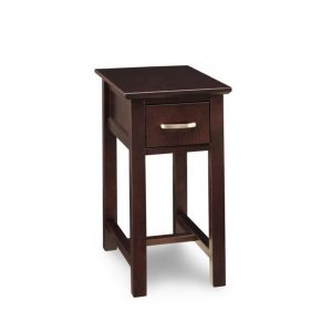 brooklyn chairside table, living room, living room furniture, rustic maple, heritage maple, solid maple, solid oak, solid wood, made in canada, canadian made, custom furniture, customizable, storage ideas, storage, drawers, occasional, occasional furniture, end table, chairside table