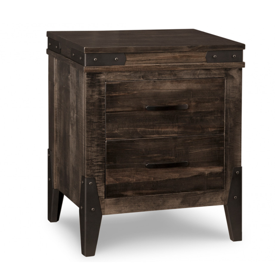 chattanooga night stand, Heritage maple, solid maple, solid wood, solid oak, end table, occasional furniture, rustic details, storage, drawer, organization, custom furniture, made in Canada, Canadian made, rustic furniture, chairside table, living room, living room furniture
