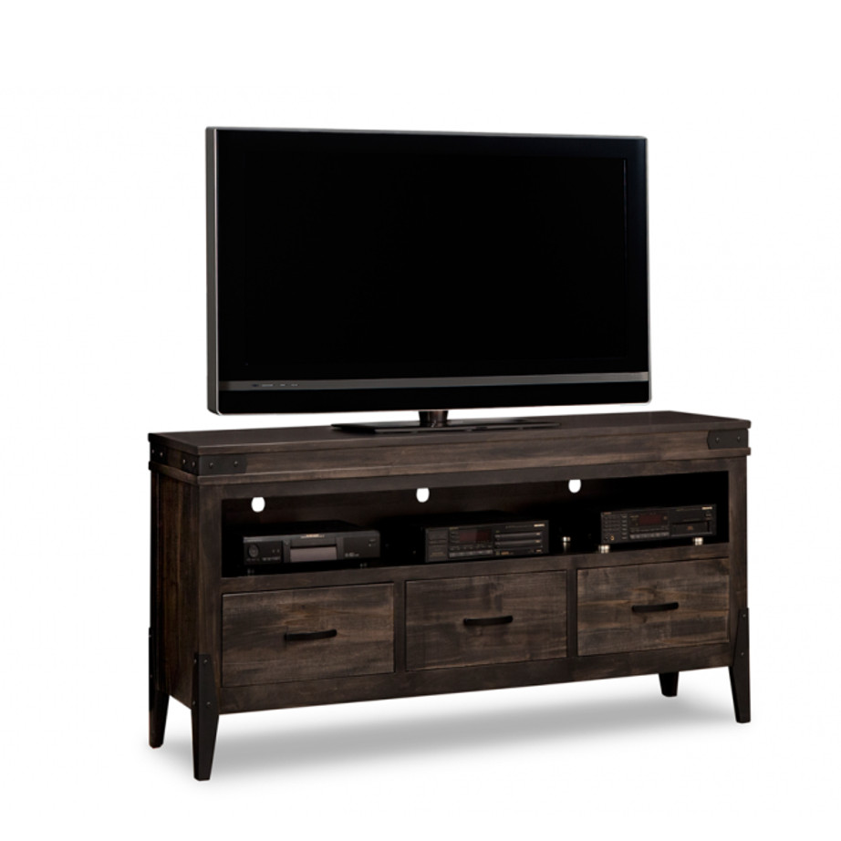chattanooga 60 tv console, living room, living room furniture, console, tv console, tv, hdtv, storage, storage ideas, solid wood, made in Canada, Canadian made, maple, oak, cherry, solid maple, heritage maple, solid oak, solid cherry, rustic, rustic design, drawer, drawers, shelves, storage solutions, custom, custom furniture, entertainment