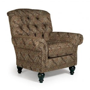 best home furnishings, accent chair, sitting chair, upholstered, custom chair, wood frame, christabel tufted chair, tufted back, traditional chair
