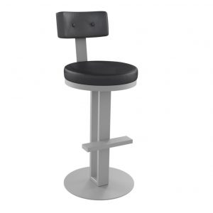 empire stool, bar height stool, bar height, counter height, counter height stool, custom furniture, made in canada, canadian made, solid wood, kitchen, dining room, kitchen furniture, dining room furniture, metal, custom, customizable, swivel stool