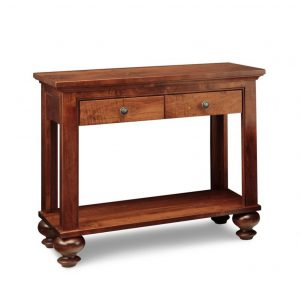georgetown sofa table, living room, living room furniture, rustic maple, heritage maple, solid maple, solid oak, solid wood, made in canada, canadian made, custom furniture, customizable, storage ideas, storage, drawers, occasional, occasional furniture, sofa table
