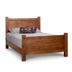 rafters bed, bedroom, bedroom furniture, queen bed, king bed, rustic maple, heritage maple, solid maple, solid oak, solid wood, made in canada, canadian made, custom furniture, double bed, customizable