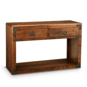 saratoga sofa table, living room, living room furniture, rustic maple, heritage maple, solid maple, solid oak, solid wood, made in canada, canadian made, custom furniture, customizable, storage ideas, storage, drawers, occasional, occasional furniture, sofa table