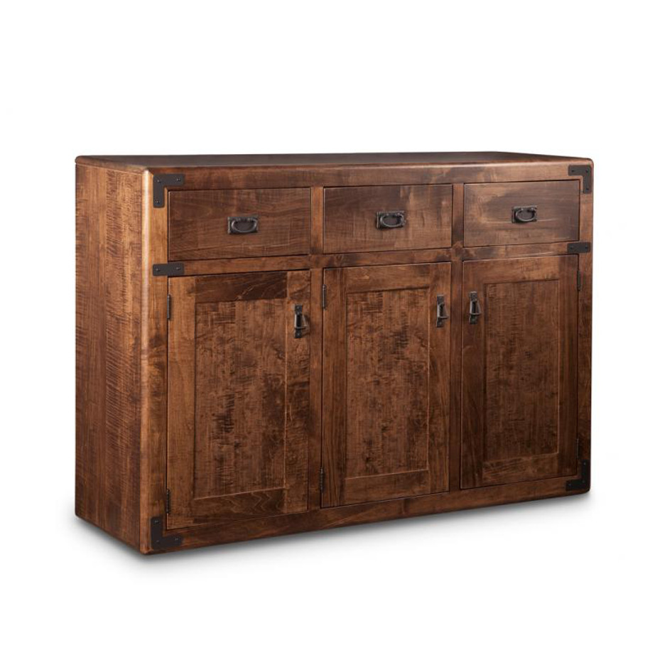 saratoga 3 door sideboard, Dining room, dining room furniture, occasional, occasional furniture, solid wood, solid oak, solid maple, custom, custom furniture, storage, storage ideas, dining cabinet, sideboard, made in canada, Canadian made, solid cherry, cherry, maple, oak, heritage maple