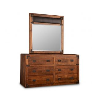 saratoga dresser, Heritage maple, solid maple, solid wood, solid oak, end table, mirror, occasional furniture, rustic details, storage, drawer, organization, custom furniture, made in Canada, Canadian made, rustic furniture, chairside table, living room, living room furniture, dresser, bedroom furniture, storage, storage ideas, clothing