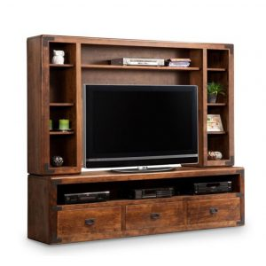 saratoga 84 wall unit, living room, living room furniture, console, tv console, wall unit, tv, hdtv, storage, storage ideas, solid wood, made in Canada, Canadian made, maple, oak, cherry, solid maple, heritage maple, solid oak, solid cherry, rustic, rustic design, drawer, drawers, shelves, storage solutions, custom, custom furniture