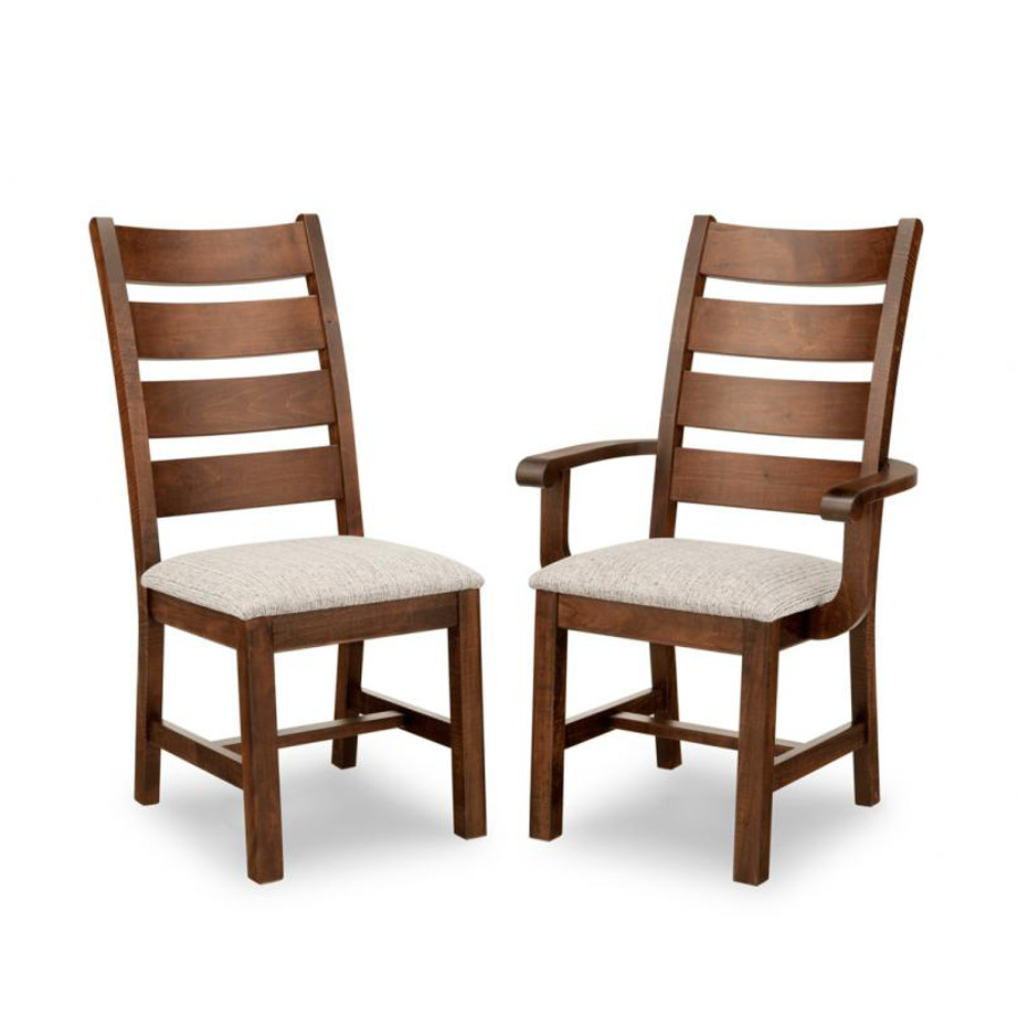 Saratoga dining chair, Dining room, dining room furniture, solid wood, solid oak, solid maple, custom, custom furniture, storage, storage ideas, dining chair, made in canada, Canadian made, solid cherry, cherry, maple, oak, heritage maple