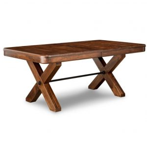 saratoga trestle table, Dining room, dining room furniture, solid wood, solid oak, solid maple, custom, custom furniture, dining table, sideboard, dining table, extendable table, rustic, rustic design, solid cherry, maple, heritage maple, oak, cherry,