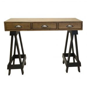 saw horse desk, storage, storage ideas, accent piece, drawers, rustic, rustic furniture, canadian made, made in canada, pine, solid wood, accent piece, occasional furniture, console, multipurpose, sawhorse desk