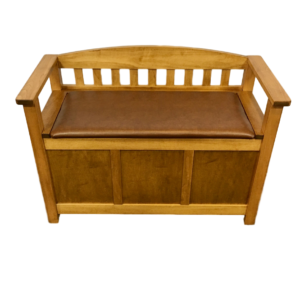 Accents, Entry Benches, entryway, fabric, hallway, made in canada, maple, oak, rustic, seating, solid wood, storage, useful, storage ideas, hallway ideas, simple, arched back bench, oakridge