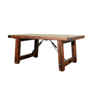 benchmark trestle table, Dining room, table, dining table, solid wood, maple, rustic maple, made in Canada, pedestal, custom, custom furniture, benchmark