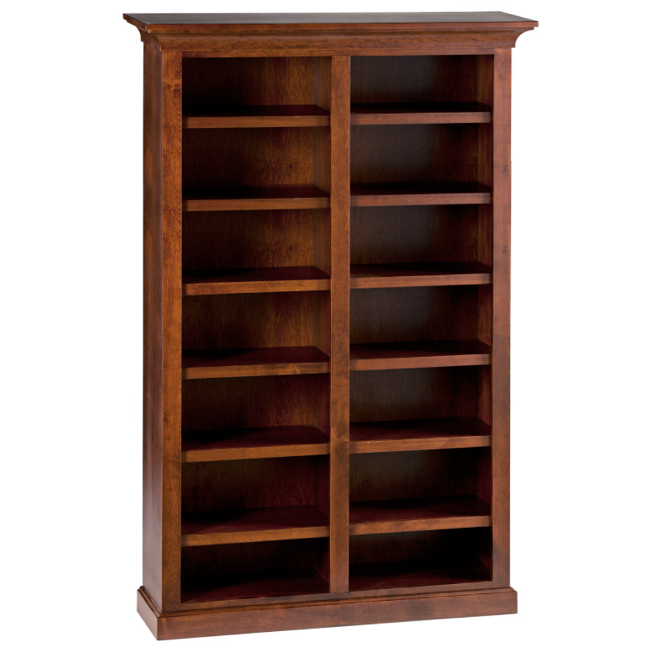 Canterbury Bookcase, Bookcase, Bookcase with storage, made in Canada, Maple wood