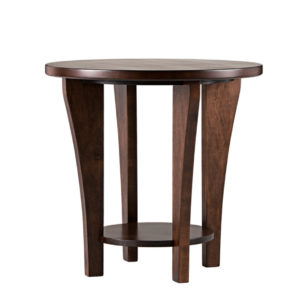 Canterbury Round end table, round end table, end table round, canterbury, bottom shelf end table , Canadian made,