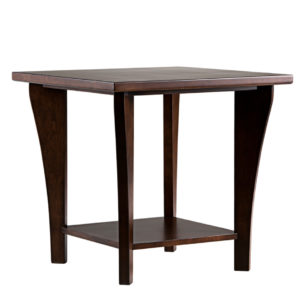 Canterbury Square end table, square end table, square table, canterbury table, Canadian made furniture, solid wood furniture
