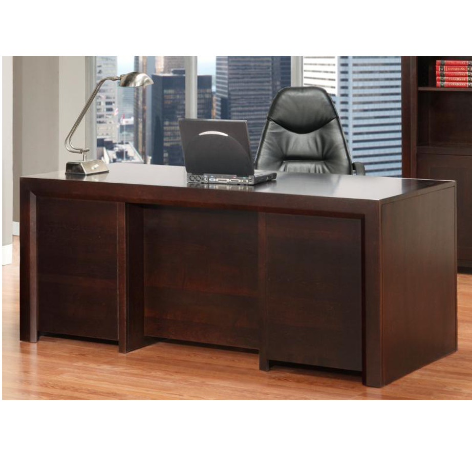 Contempo Desk, Home Office, Desks, cherry, computer, distressed, made in canada, maple, oak, rustic, solid wood, workstation, office ideas, classic, storage ideas, hand stone, Contempo Executive Desk, Executive Desk