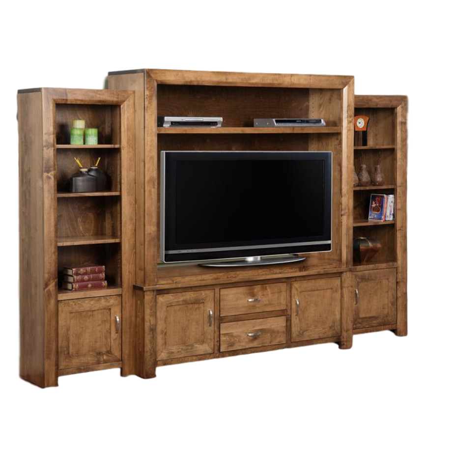 Contempo Wall Unit, Entertainment, Wall Units, cherry, contemporary, custom cabinet, distressed, HDTV, made in canada, maple, modern, oak, solid wood, tv room, living room ideas, rustic, hand stone, bookcases, storage ideas, unique, traditional, straight lines,