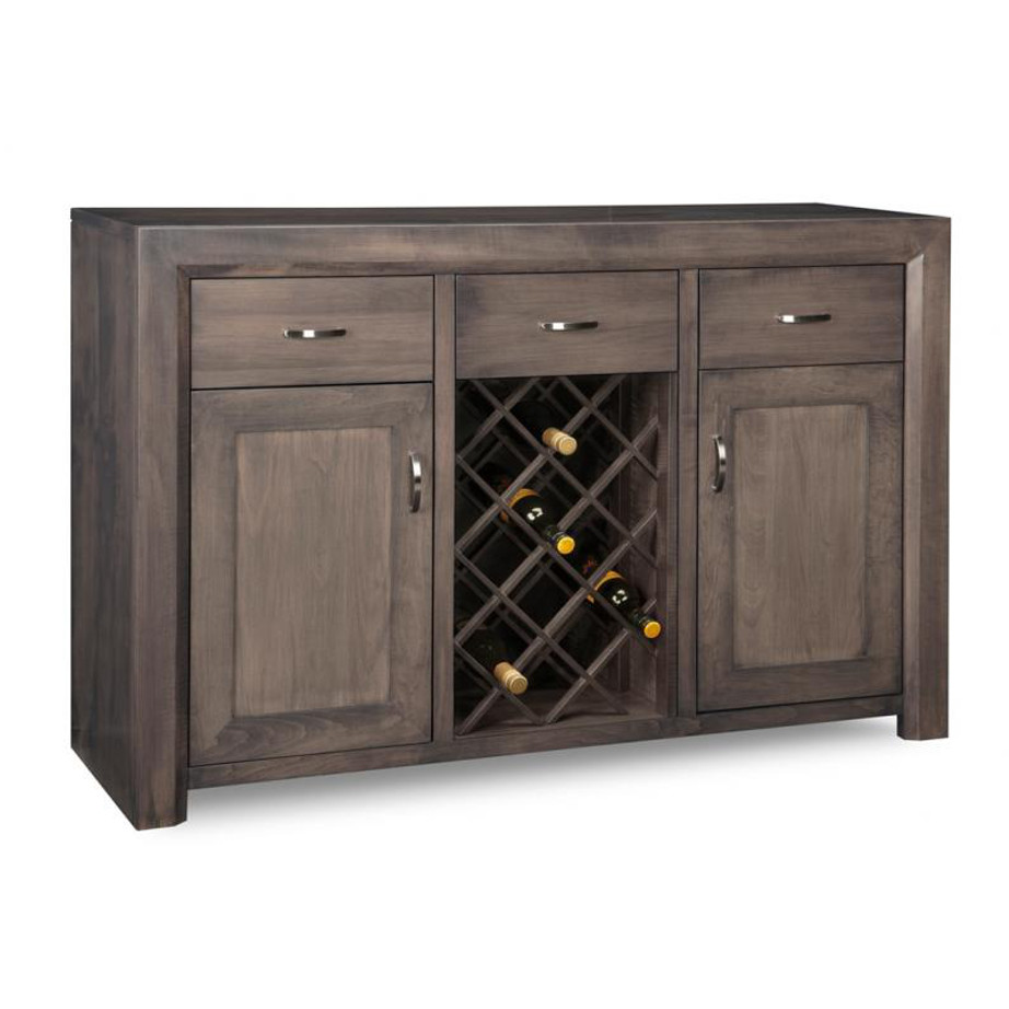 Contempo Wine Sideboard, Dining Room, Cabinets, Display Cabinets, cherry, contemporary, custom cabinet, distressed, handstone, made in canada, made to order, maple, modern, oak, solid wood, rustic, hand made, kitchen ideas, handstone, straight lines, blocky, unique, modern, glass doors, Contempo Large Display Sideboard, Contempo, Contempo Large Sideboard