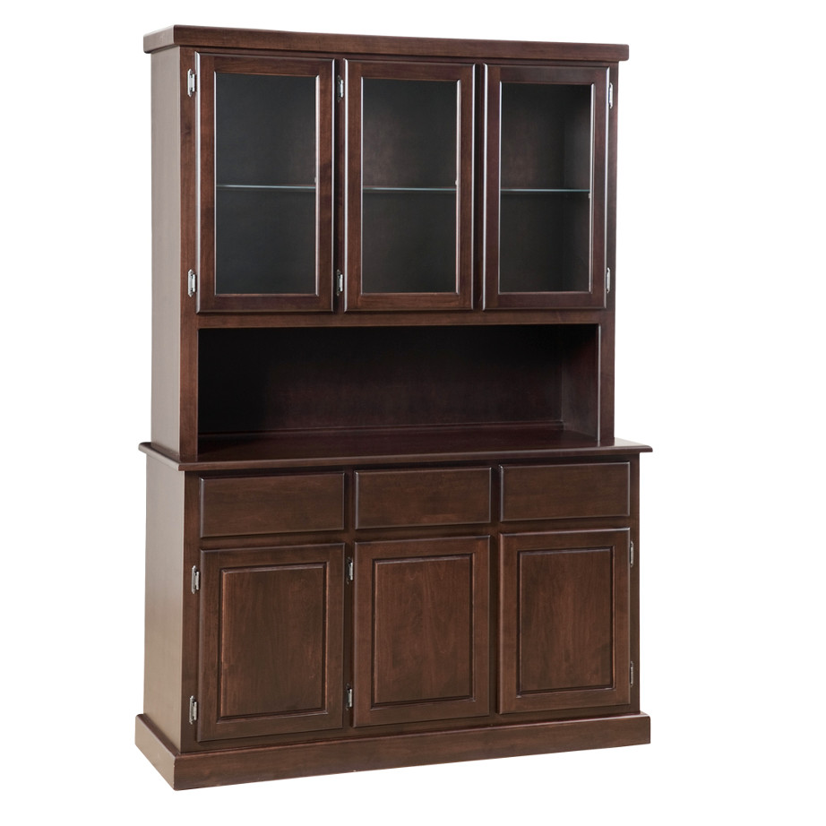 Contemporary 3 Door Buffet and Hutch, Dining room, dining room furniture, occasional, occasional furniture, solid wood, solid oak, solid maple, custom, custom furniture, storage, storage ideas, dining cabinet, sideboard, hutch