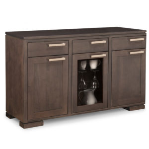 Cordova display sideboard, large sideboard, glass sideboard, sideboard, furniture, solid wood, Special order, Handstone, Dining room, Home furnishing, Cordova, made in Canada, built to order, solid wood furniture, cabinets, storage cabinets