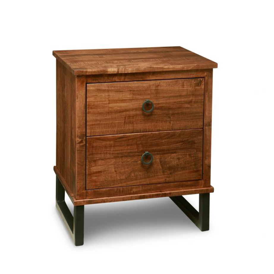 Bedroom, Night Stands, cabinet, cherry, contemporary, custom chest, distressed, drawers, made in canada, made to order, maple, master bedroom, modern, oak, solid wood, metal, rustic, handmade, rustic, distressed, simple, customizable, Solid Rustic Maple, hand stone, Cumberland Night Stand