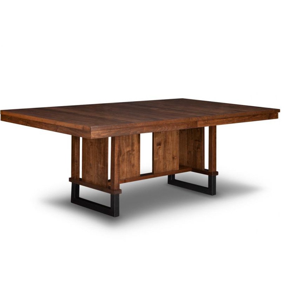cumberland trestle table, dining furniture, Style furniture, modern design furniture, dining furniture, dining table, cumberland, handmade to order , customizable, made in Canada, distressed finish, cumberland chairs, dining chairs, , craftsman furniture, amish style furniture, contemporary, handmade, rustic, distressed, simple, customizable, Solid Rustic Maple, trestle, trestle table