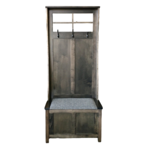 Hall Bench with Mirror, Accents, Entry Benches, entryway, fabric, hallway, made in canada, maple, oak, rustic, seating, solid wood, storage, simple, useful, storage ideas, hallway ideas, Oakridge