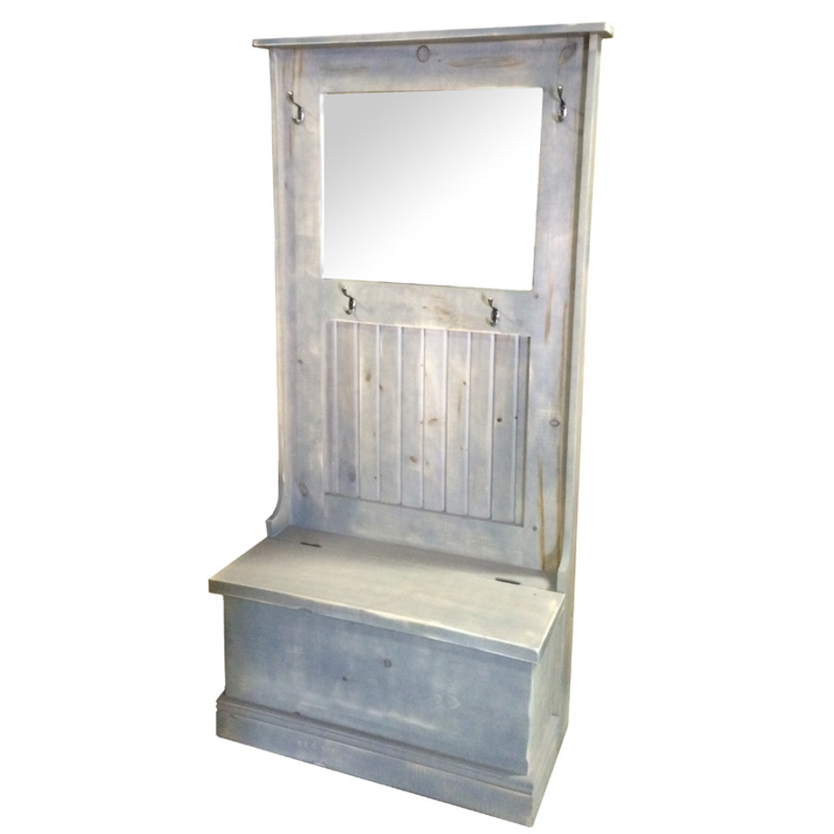 Farhmouse Bench, furniture, pine, storage ideas, storage, solid wood, made in Canada, Canadian made, rustic, rustic look, shelves, paint, display, organizer, organize, organization, entry, entryway, mudroom, foyer, bench, entry bench, hall tree, mirror, hook, hooks