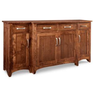 Glen Garry step sideboard, step sideboard, sideboard, Glen Garry, Customizable, rustic furniture, dining room furniture, sideboard, bump out sideboard, handstone, custom cabinets,distresses,contemporary,made in Canada, made to order ,maple ,modern oak,solid wood