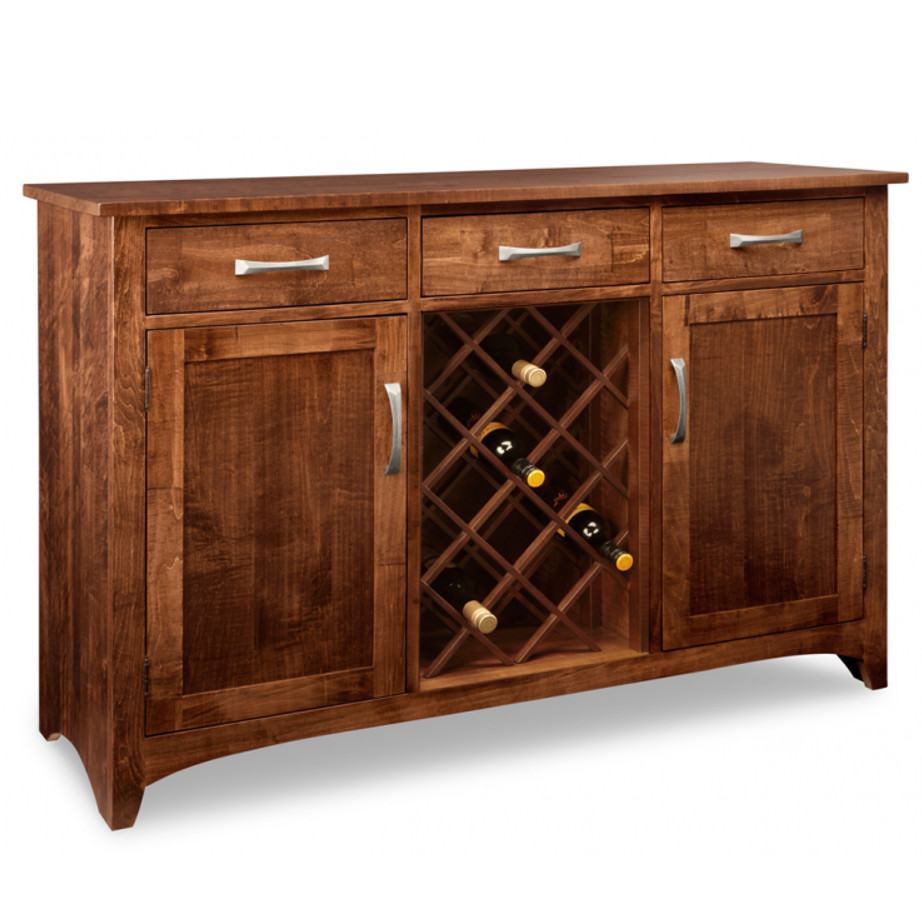 Glen Garry Wine Sideboard, Glen Garry, Wine Sideboard, Wine, Sideboard, Dining Room, Cabinets, Wine Cabinets, bar, cherry, contemporary, custom cabinet, distressed, handstone, liquor, made in canada, made to order, maple, modern, oak, solid wood, kitchen ideas, kitchen furniture, amish style furniture, contemporary, handmade, rustic, distressed,