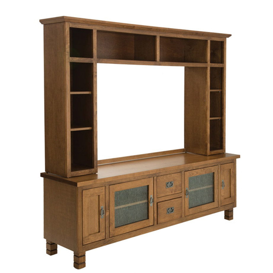 Grande Wall unit, wall unit, grande unit, tall unit, tall unit with glass doors, made in Canada, solid wood furniture, traditional wall unit