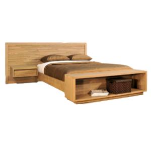 bedroom, bedroom furniture, custom, custom furniture, bed, solid wood, maple, rustic maple, rustic wood, amish design, ledgerock, unique, unique design, nightstand