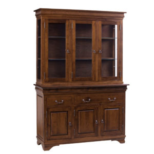 Morgan 3 Door Buffet and Hutch, Dining room, dining room furniture, occasional, occasional furniture, solid wood, solid oak, solid maple, custom, custom furniture, storage, storage ideas, dining cabinet, sideboard, hutch