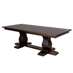 mail trestle table, dining room, dining table, custom, custom furniture, custom built, solid wood, wood, solid maple, solid oak, maple, oak, extendable table, trestle table