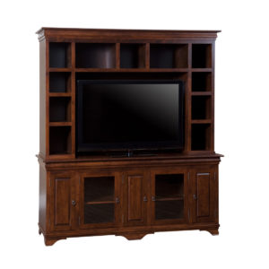 Morgan 83 wall unit, wall unit, wall unit with storage TV unit, solid wood , made in canada, choose your wood, solid wood furniture, display wall unit
