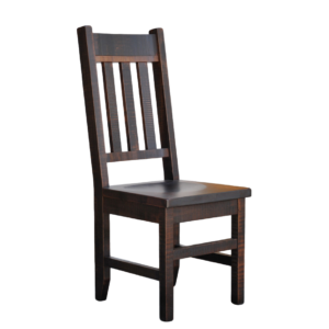 muskoka dining chair, solid wood dining chair, canadian made dining chair, ruff sawn dining chair, muskoka chair